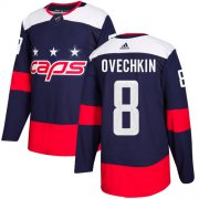 Wholesale Cheap Adidas Capitals #8 Alex Ovechkin Navy Authentic 2018 Stadium Series Stitched Youth NHL Jersey