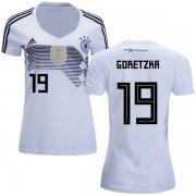 Wholesale Cheap Women's Germany #19 Goretzka White Home Soccer Country Jersey