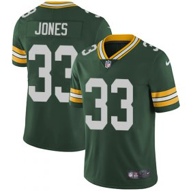 Wholesale Cheap Nike Packers #33 Aaron Jones Green Team Color Men\'s Stitched NFL Vapor Untouchable Limited Jersey