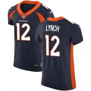 Wholesale Cheap Nike Broncos #12 Paxton Lynch Navy Blue Alternate Men's Stitched NFL Vapor Untouchable Elite Jersey