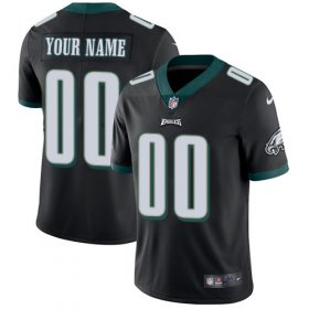 Wholesale Cheap Nike Philadelphia Eagles Customized Black Alternate Stitched Vapor Untouchable Limited Youth NFL Jersey
