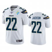 Wholesale Cheap Los Angeles Chargers #22 Justin Jackson White 60th Anniversary Vapor Limited NFL Jersey