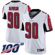 Wholesale Cheap Nike Falcons #90 Marlon Davidson White Youth Stitched NFL 100th Season Vapor Untouchable Limited Jersey