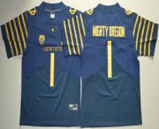 Wholesale Cheap Men's Oregon Ducks Spring Game #1 Mighty Oregon Weebfoot 100th Rose Bowl Game Navy Blue Elite Jersey