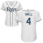Wholesale Cheap Rays #4 Blake Snell White Home Women's Stitched MLB Jersey