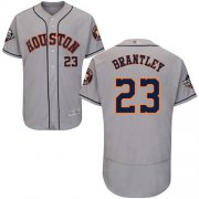 Wholesale Cheap Astros #23 Michael Brantley Grey Flexbase Authentic Collection 2019 World Series Bound Stitched MLB Jersey