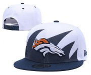 Wholesale Cheap Broncos Team Logo Navy White Adjustable Hat