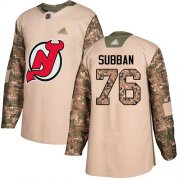 Wholesale Cheap Adidas Devils #76 P.K. Subban Camo Authentic 2017 Veterans Day Stitched NHL Jersey