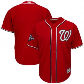 Wholesale Cheap Washington Nationals Majestic 2019 World Series Champions Alternate Big & Tall Cool Base Jersey Red