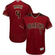Wholesale Cheap Diamondbacks #4 Ketel Marte Sedona Red Flexbase Authentic Collection Stitched MLB Jersey
