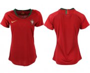 Wholesale Cheap Women's Portugal Blank Home Soccer Country Jersey