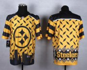 Wholesale Cheap Nike Steelers Blank Gold Men's Stitched NFL Elite Noble Fashion Jersey