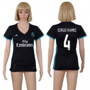 Wholesale Cheap Women's Real Madrid #4 Sergio Ramos Away Soccer Club Jersey