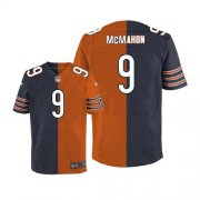 Wholesale Nike Bears #9 Jim McMahon Navy Blue/Orange Men's Stitched NFL Elite Split Jersey