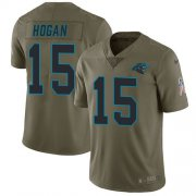 Wholesale Cheap Nike Panthers #15 Chris Hogan Olive Men's Stitched NFL Limited 2017 Salute To Service Jersey