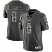 Wholesale Cheap Nike Saints #8 Archie Manning Gray Static Men's Stitched NFL Vapor Untouchable Limited Jersey