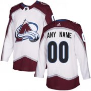 Wholesale Cheap Men's Adidas Avalanche Personalized Authentic White Road NHL Jersey