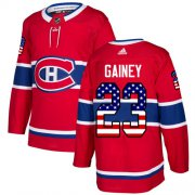 Wholesale Cheap Adidas Canadiens #23 Bob Gainey Red Home Authentic USA Flag Stitched NHL Jersey
