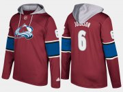Wholesale Cheap Avalanche #6 Erik Johnson Burgundy Name And Number Hoodie