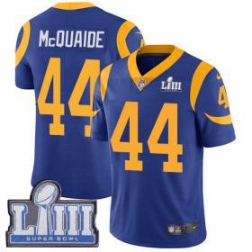 Wholesale Cheap Nike Rams #44 Jacob McQuaide Royal Blue Alternate Super Bowl LIII Bound Youth Stitched NFL Vapor Untouchable Limited Jersey