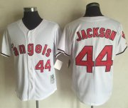Wholesale Cheap Mitchell and Ness Angels of Anaheim #44 Reggie Jackson White Stitched MLB Jersey