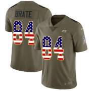 Wholesale Cheap Nike Buccaneers #84 Cameron Brate Olive/USA Flag Men's Stitched NFL Limited 2017 Salute To Service Jersey