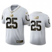 Wholesale Cheap Indianapolis Colts #25 Marlon Mack Men's Nike White Golden Edition Vapor Limited NFL 100 Jersey