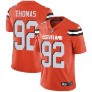 Wholesale Cheap Nike Browns #92 Chad Thomas Orange Alternate Men's Stitched NFL Vapor Untouchable Limited Jersey