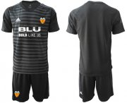 Wholesale Cheap Valencia Blank Black Goalkeeper Soccer Club Jersey