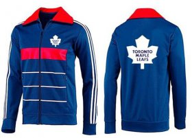 Wholesale Cheap NHL Toronto Maple Leafs Zip Jackets Blue-4