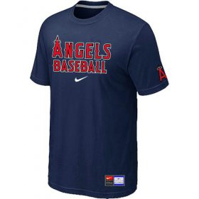 Wholesale Cheap Los Angeles Angels Nike Short Sleeve Practice MLB T-Shirt Midnight Blue