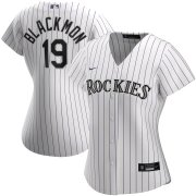 Wholesale Cheap Colorado Rockies #19 Charlie Blackmon Nike Women's Home 2020 MLB Player Jersey White