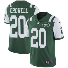 Wholesale Cheap Nike Jets #20 Isaiah Crowell Green Team Color Men\'s Stitched NFL Vapor Untouchable Limited Jersey