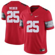 Wholesale Cheap Ohio State Buckeyes 25 Mike Weber Red 2018 Spring Game College Football Limited Jersey
