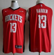 Wholesale Cheap Rockets 13 James Harden Red Nike Swingman Jersey