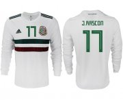 Wholesale Cheap Mexico #17 J.Rascon Away Long Sleeves Soccer Country Jersey
