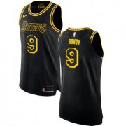 Wholesale Cheap Women's Nike Los Angeles Lakers #9 Rajon Rondo Black NBA Swingman City Edition Jersey