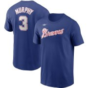 Wholesale Cheap Atlanta Braves #3 Dale Murphy Nike Cooperstown Collection Name & Number T-Shirt Royal