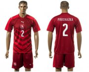 Wholesale Cheap Czech #2 Prochazka Red Home Soccer Country Jersey