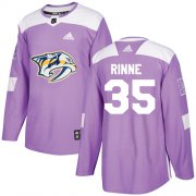 Wholesale Cheap Adidas Predators #35 Pekka Rinne Purple Authentic Fights Cancer Stitched NHL Jersey