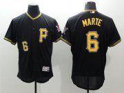 Wholesale Cheap Pirates #6 Starling Marte Black Flexbase Authentic Collection Stitched MLB Jersey
