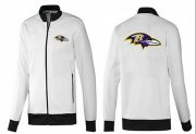 Wholesale Cheap NFL Baltimore Ravens Team Logo Jacket White_1