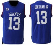 Wholesale Cheap Nike Giants #13 Odell Beckham Jr Royal Blue Team Color Men's Stitched NFL Limited Tank Top Jersey