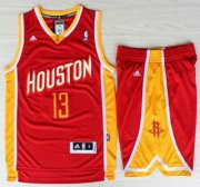 Wholesale Cheap Houston Rockets 13 James Harden Red Throwback Revolution 30 Swingman Jerseys Shorts NBA Suits