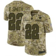 Wholesale Cheap Nike Cowboys #22 Emmitt Smith Camo Men's Stitched NFL Limited 2018 Salute To Service Jersey