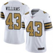 Wholesale Cheap Nike Saints #43 Marcus Williams White Men's Stitched NFL Limited Rush Jersey