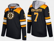 Wholesale Cheap Bruins #7 Phil Esposito Black Name And Number Hoodie