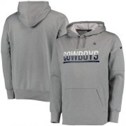 Wholesale Cheap Men's Dallas Cowboys Nike Gray Sideline Circuit Pullover Performance Hoodie