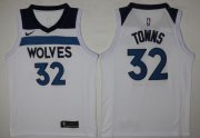 Wholesale Cheap Men's Minnesota Timberwolves #32 Karl-Anthony Towns New White 2017-2018 Nike Swingman Stitched NBA Jersey