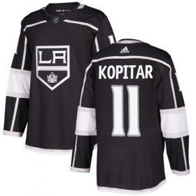 Wholesale Cheap Adidas Kings #11 Anze Kopitar Black Home Authentic Stitched NHL Jersey